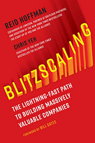 Blitzscaling tech book cover by Chris Yeh and Reid Hoffman