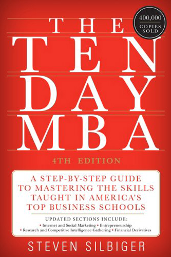 The Ten Day MBA book cover by Steven Silberg